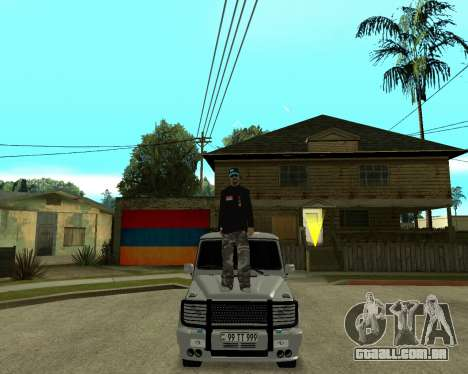 Armenian Skin para GTA San Andreas quinto tela