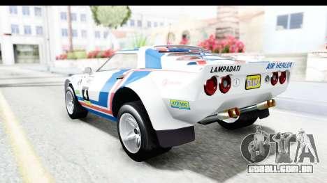 GTA 5 Lampadati Tropos Rallye para GTA San Andreas vista superior