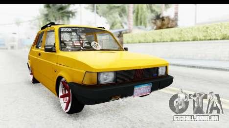 Fiat Spazio Tr Street para GTA San Andreas traseira esquerda vista