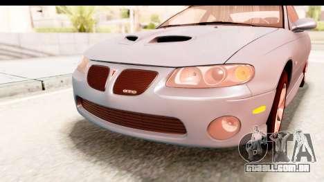 Pontiac GTO 2006 para GTA San Andreas vista superior