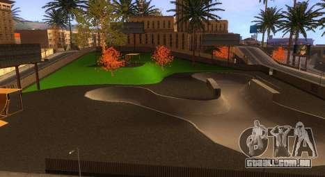 Novas texturas de um skate Park e hospital para GTA San Andreas por diante tela