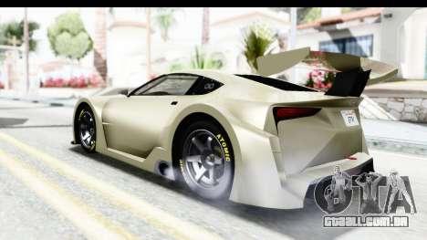 GTA 5 Emperor ETR1 IVF para GTA San Andreas traseira esquerda vista