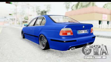 BMW 525i E39 M Tech para GTA San Andreas vista direita