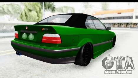 BMW M3 E36 Sloboz Edition para GTA San Andreas esquerda vista