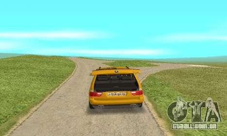 BMW X5 para GTA San Andreas vista traseira