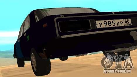 VAZ-2106 para GVR versão inicial para GTA San Andreas traseira esquerda vista