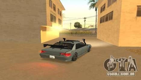 Super Sultan para GTA San Andreas esquerda vista