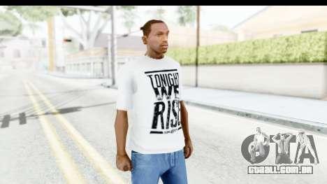 Skillet T-Shirt para GTA San Andreas segunda tela