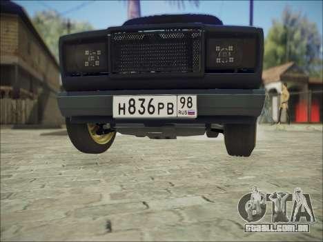 VAZ 2107 Black Jack para GTA San Andreas vista interior