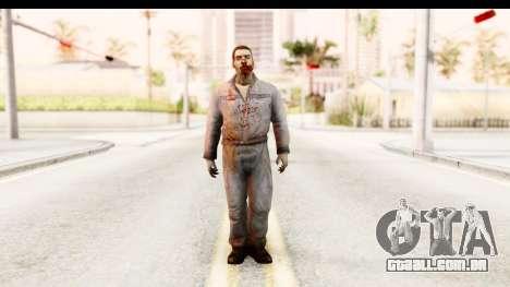 Left 4 Dead 2 - Zombie Worker para GTA San Andreas segunda tela