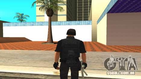 Original SWAT pele sem máscara para GTA San Andreas terceira tela