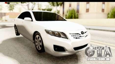 Toyota Camry GL 2011 para GTA San Andreas vista direita