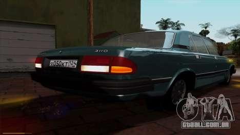 GAZ 3110 Volga para GTA San Andreas vista inferior
