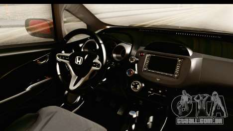 Honda Fit Sport 2009 para GTA San Andreas vista interior