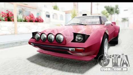 GTA 5 Lampadati Tropos Rallye No Headlights para GTA San Andreas traseira esquerda vista