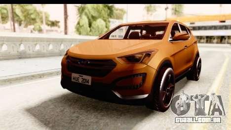 Hyundai Santa Fe 2015 para GTA San Andreas traseira esquerda vista