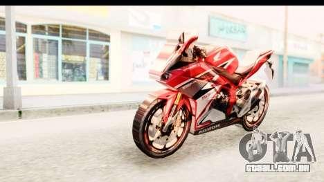 Honda CBR250RR para GTA San Andreas traseira esquerda vista