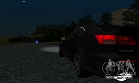 Lexus IS-F para GTA San Andreas vista interior