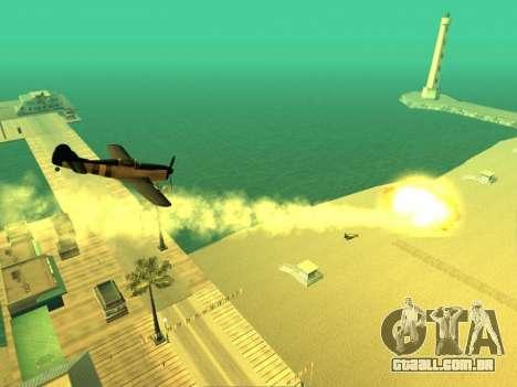 A adição de armas para o ar técnica para GTA San Andreas por diante tela