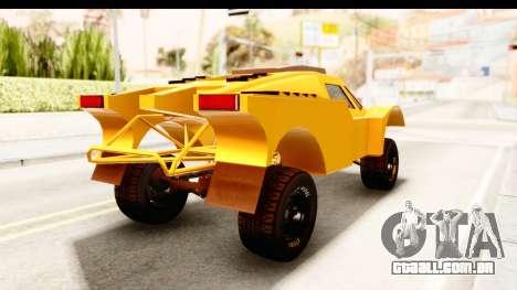 GTA 5 Desert Raid IVF PJ para GTA San Andreas traseira esquerda vista