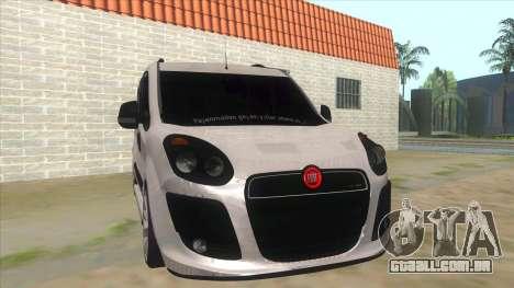 Fiat Doblo 2015 Series para GTA San Andreas vista traseira