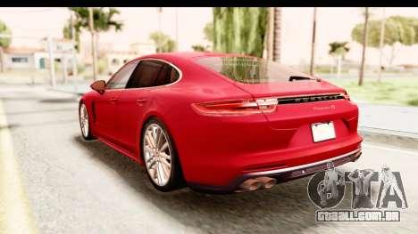 Porsche Panamera 4S 2017 v5 para GTA San Andreas traseira esquerda vista