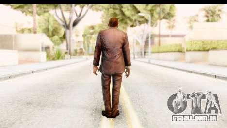 Left 4 Dead 2 - Zombie Suit para GTA San Andreas terceira tela
