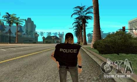Feminino instrutor da SWAT para GTA San Andreas terceira tela