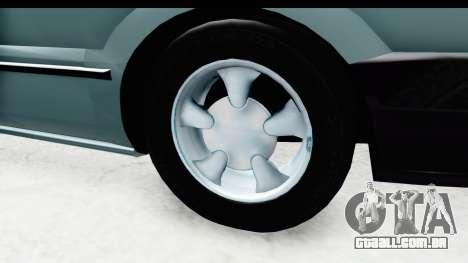 Renault 19 RE para GTA San Andreas vista traseira