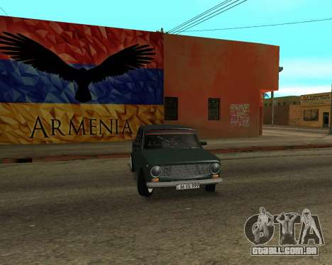 VAZ 2101 Arménia para vista lateral GTA San Andreas