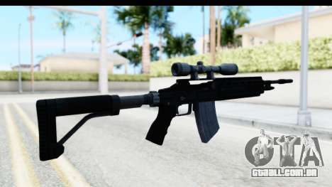 GTA 5 Vom Feuer Marksman Rifle para GTA San Andreas segunda tela
