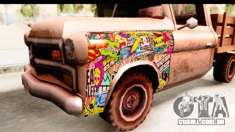 Walton Sticker Bomb para GTA San Andreas vista traseira