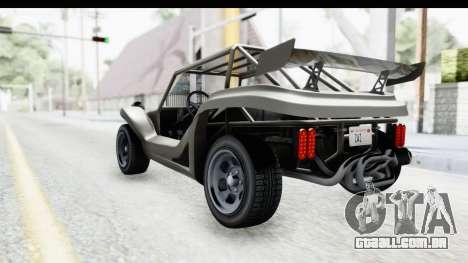 GTA 5 BF Bifta v2 IVF para GTA San Andreas esquerda vista