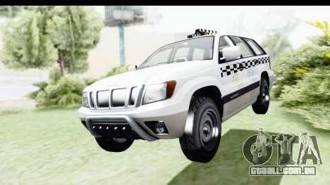 GTA 5 Canis Seminole Taxi Milspec para GTA San Andreas vista direita