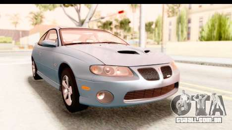 Pontiac GTO 2006 para GTA San Andreas
