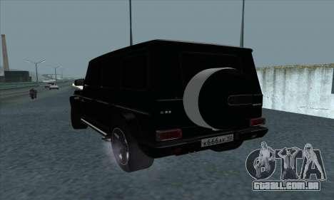 Mercedes-Benz G55 para GTA San Andreas traseira esquerda vista