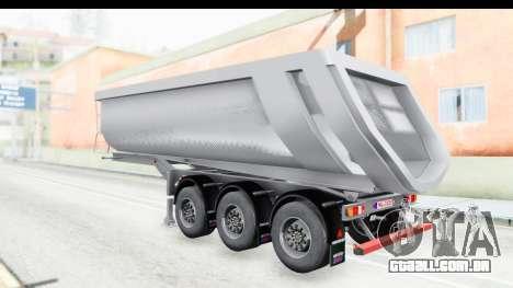 Trailer Volvo Dumper para GTA San Andreas vista direita