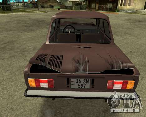ZAZ 968M Arménia para GTA San Andreas vista inferior