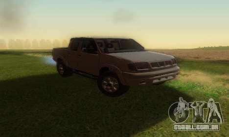 Nissan Frontier para GTA San Andreas vista direita