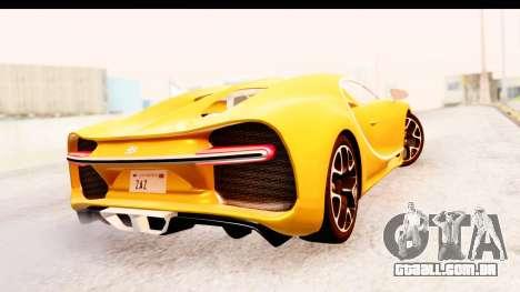 Bugatti Chiron 2017 v2.0 Updated para GTA San Andreas vista traseira