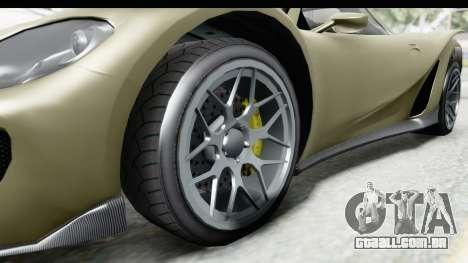 GTA 5 Pfister 811 IVF para GTA San Andreas vista traseira