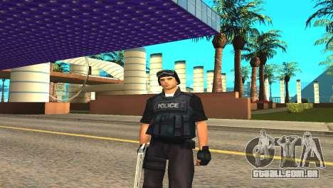 Original SWAT pele sem máscara para GTA San Andreas