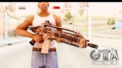 SCAR-LK Hex Camo Tan para GTA San Andreas terceira tela