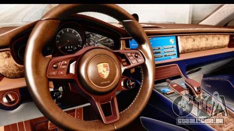 Porsche Panamera 4S 2017 v4 para GTA San Andreas vista interior
