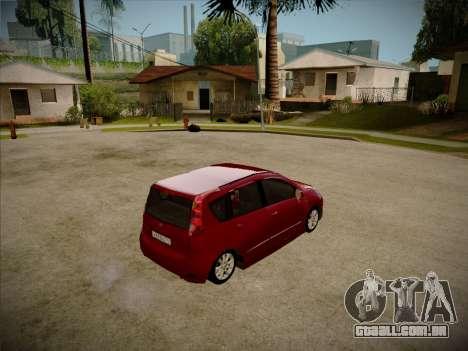 Nissan Note 2008 para GTA San Andreas traseira esquerda vista
