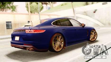 Porsche Panamera 4S 2017 v4 para GTA San Andreas esquerda vista