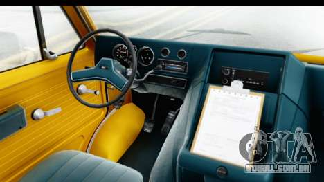 GMC Vandura 1985 HQLM para GTA San Andreas vista interior