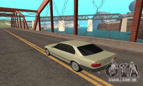 BMW 730 para GTA San Andreas esquerda vista