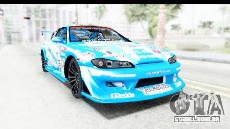Nissan Silvia S15 D1GP Blue Toyo Tires para GTA San Andreas vista direita