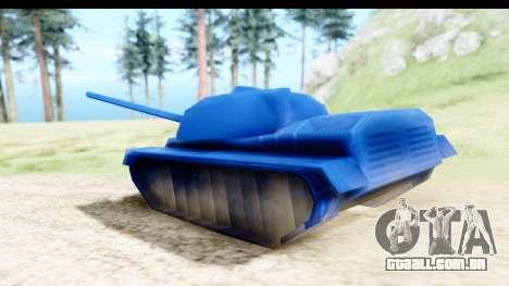 Tank M60 from Army Men: Serges Heroes 2 DC para GTA San Andreas traseira esquerda vista